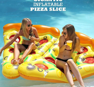 This Inflatable Giant Pizza Will Make Pool Parties More Fun