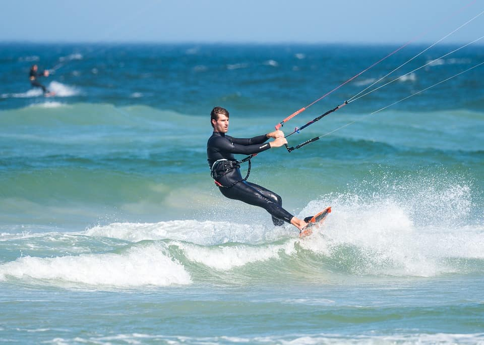 kite surfing training